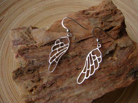 Flügel Ohrringe - Engelsflügel Engel Ohr Ring