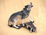 Wolfsmutter mit Welpe Wolf Figur Tierfigur Sammelfigur Tier 001