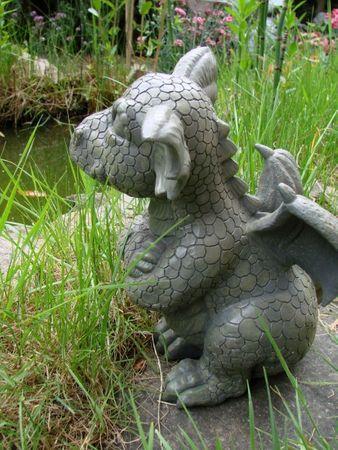 Gartendrache skeptisch Drache Figur Gargoyle – Bild 2
