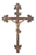 Christus am Kreuz nach Montanes Christliche Figur Gott Kirche bronziert 001