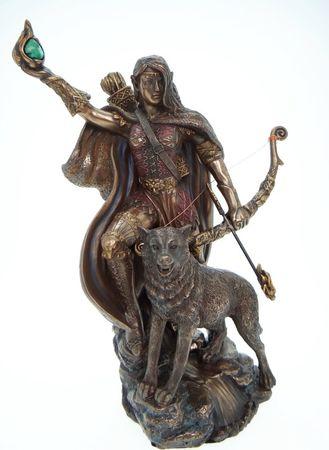 Skadi nordische Göttin der Jagd und des Winters Figur Skulptur Gott Odin – Bild 1