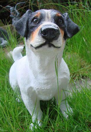 Jack Russel Terrier Hund Figur Tierfigur Gartenfigur – Bild 1