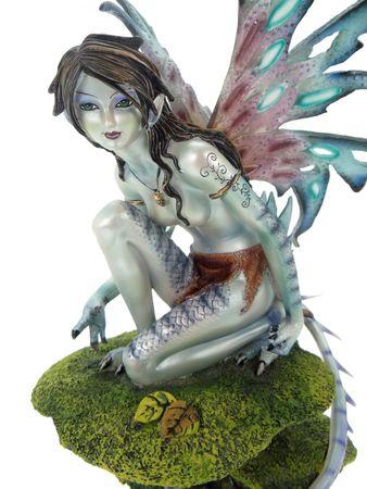 Elfe Avataria auf bemoostem Pilz Fee Fairy Figur TOP Qualität – Bild 2