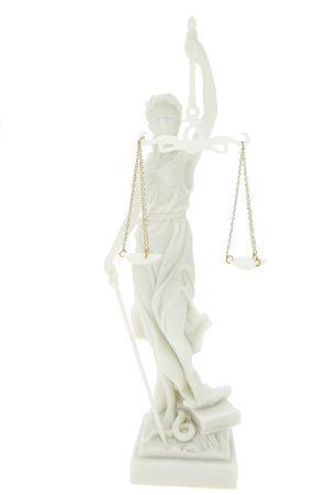 Edle Justitia Figur weiss Skulptur BGB römische Götter  – Bild 1