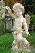 Großer Engel Aniell mit Laterne Figur Skulptur  001