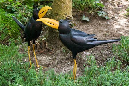 Vogelpaar Barney und Billy  aus Metall Figur Vogel Garten