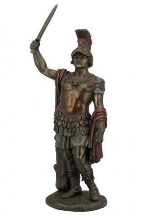 Alexander der Grosse Figur Skulptur bronziert + coloriert 2013