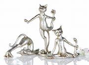 3er Set Figur Cat-Aerobic Figur Katze Sport 001