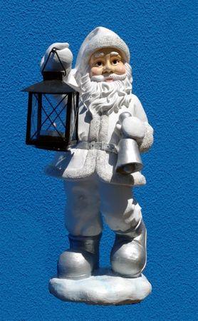 Weihnachtsmann mit Laterne Weihnachten Figur Santa
