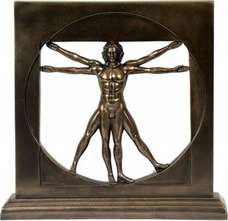 Der vitruvianische Mensch Da Vinci Figur Bronz. vitruv