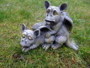 Drachenkind Liebespaar Drache Figur Gargoyle 001