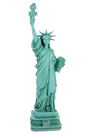 Freiheitsstatue Statue of Liberty grün 32 cm New York Figur Skulptur Deko – Bild 1