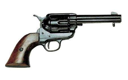 Denix Replica Colt Peacemaker 45 er Kaliber schwarz Pistole