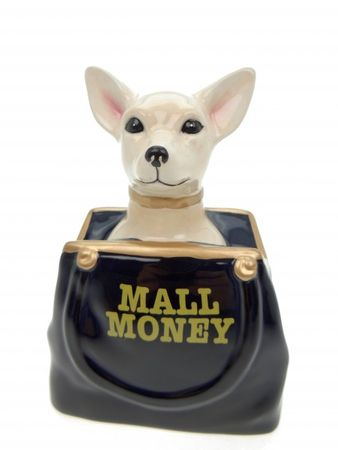 Spardose Chihuahua in Tasche Hund Mall Money Sparschwein