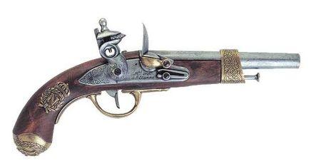 Denix 100-1036 Replica Napoleonpistole v. Gribeauval 1806 Pistole Larp