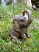 Elefant Jumbo Mini 13 cm Afrika Figur Skulptur Tierfigur 001