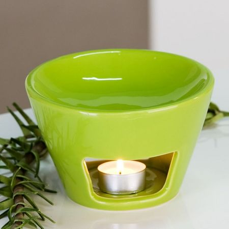 Aromabrenner Shape Keramik grün Duftlampe Aromalampe Teelicht