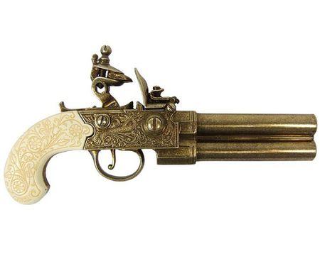 Denix Replica Englische Steinschloßpistole Twigg 22 cm 18.Jhdt