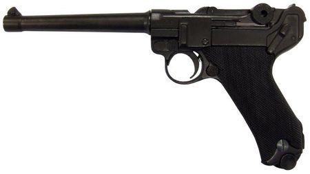 Denix Replica Luger Pistole PO8 Parabellum 1898, 30 cm Mittelauf