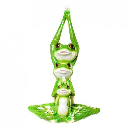 Frosch Yoga Familie Figur Gartenfigur Frosch