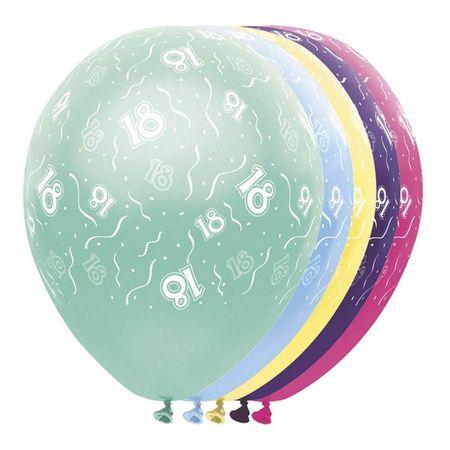 10 Stk. Geburtstag Luftballon metallic 18 Jahre Party Deko