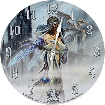 Wanduhr Bride of the Moon by Alchemy Figur Grim Reaper Totenschädel Uhr