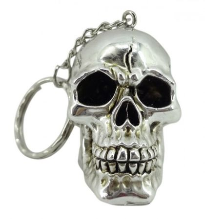 Schlüsselanhänger Schädel orange Schlüssel Totenschädel Totenkopf Figur