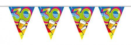 10m Geburtstags Wimpel Girlande Kette 30 Jahre Party Deko Geburtstag  – Bild 1