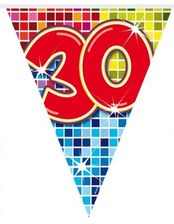 6m Geburtstags Wimpel Girlande Kette 30 Jahre Party Deko Geburtstag  – Bild 2
