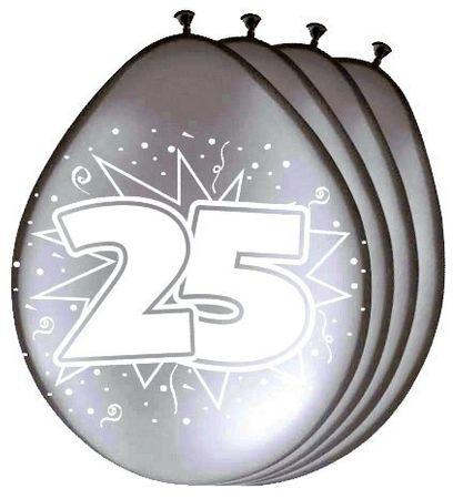 8 Stk. Luftballon Silberhochzeit 25 Jahre Hochzeit Party Deko