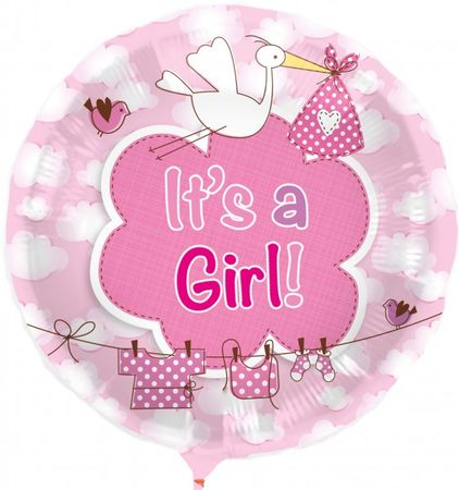"1 Stk. Luftballon "" Its a Girl "" 43 cm Party Geburt Deko"