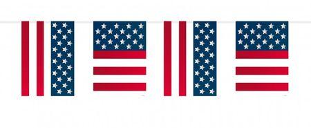 Große Amerika Wimpel Girlande Kette Party Deko Flagge