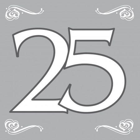 20 Stk. Servietten Silberhochzeit 25 Jahre Hochzeit Party Deko