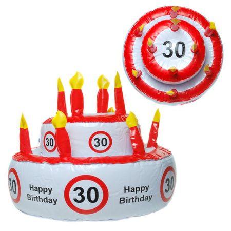 Aufblasbare Geburtstagstorte 30 Jahre Party Deko Geburtstag  – Bild 1