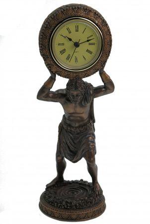 Figur des Atlas als Uhr Standuhr Titan Griechenland