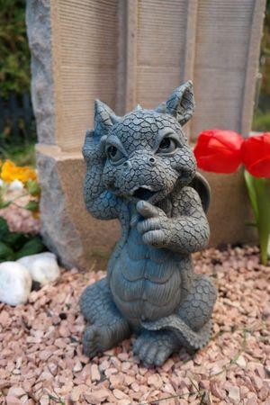"""Gartendrache """" I tell you """" Drache Figur Garten Gartenfigur TOP"""