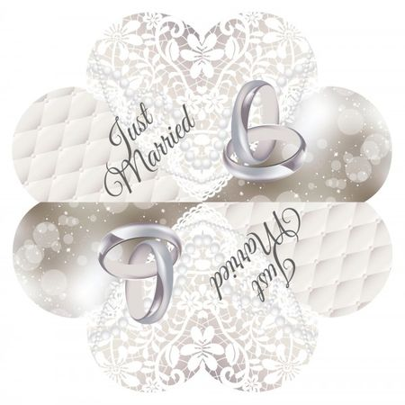 20 Stk. Servietten Just Married Hochzeit Party Deko Feier Napkins
