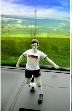 Fußballspieler mit Saugnapf zum Hängen 17 cm Fussball Spiel