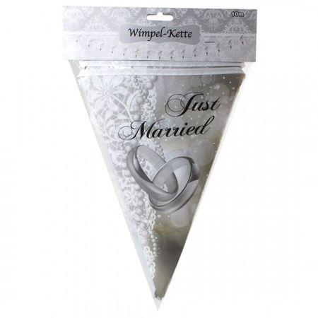 10 Meter Hochzeits Wimpelkette Girlande Just Married Deko Hochzeit Feier