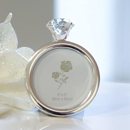 Fotorahmen Diamond silber Bilder 8x 8 cm Bilderrahmen zum stellen