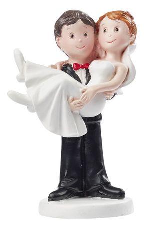 Hochzeitspaar Deko Brautpaar Tortendeko Bräutigam Braut 9,5 cm  Hochzeit