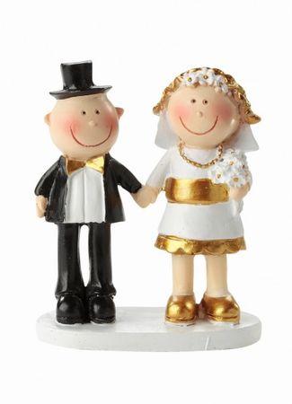 Hochzeitspaar Goldhochzeit 50 Jahre Deko Tortendeko 5,5 cm Hochzeit