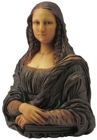Büste der Mona Lisa nach Bild im Louvre Leonardo da Vinci Figur Madonna Paris Replik