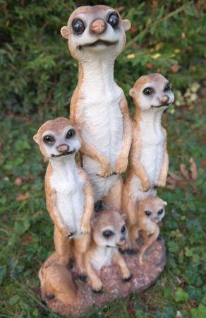 Erdmännchen Familie Figur Gartenfigur Garten 2016 Eddie Tier  – Bild 1