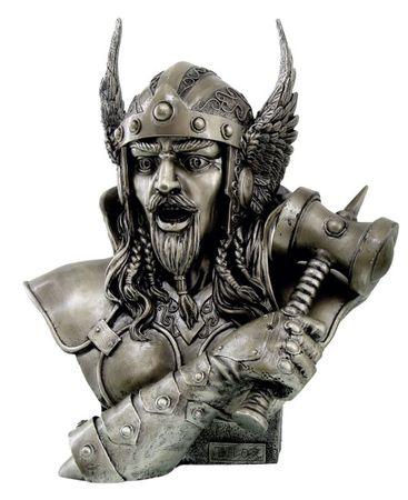Figur Monte M. Moore Thor Gott des Donners bronziert Skulptur Odin Tyr Freya