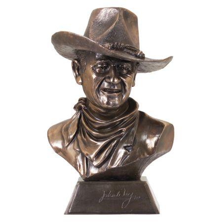 Dekofigur John Wayne Büste 40 cm Figur Skulptur Cowboy Wilder Westen