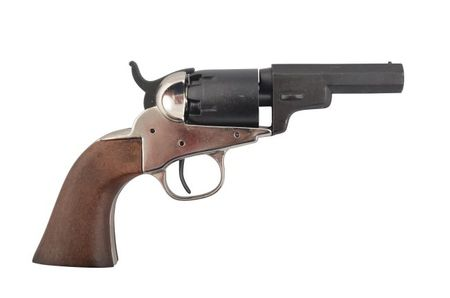 Denix Replica Colt Wells Fargo USA 1862 als Marine-Colt Nickelfarben