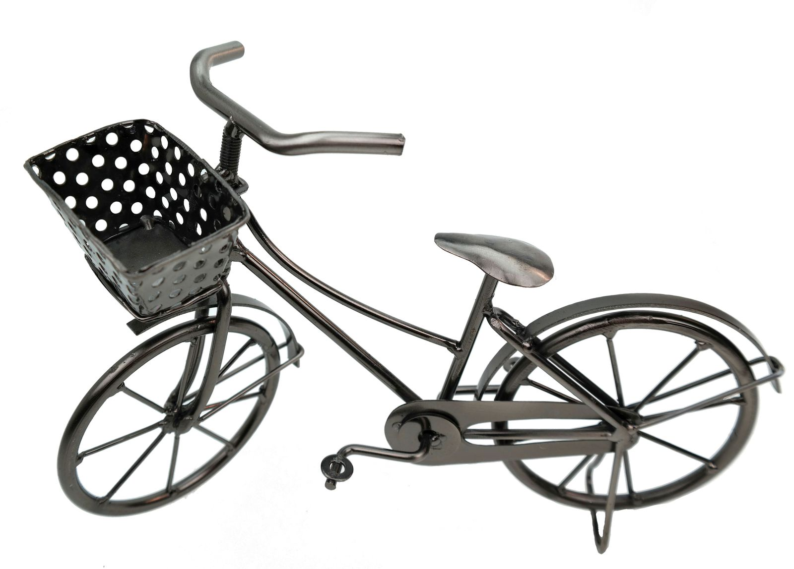 deko fahrrad mit korb aus metall dekoration geldgeschenk bike ebay. Black Bedroom Furniture Sets. Home Design Ideas