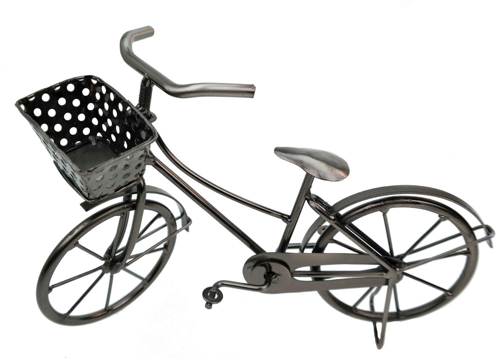 deko fahrrad mit korb aus metall dekoration geldgeschenk bike ebay. Black Bedroom Furniture Sets. Home Design Ideas
