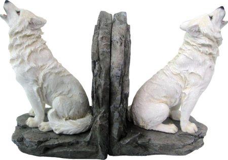Buchstützen Heulender Wolf Buchstütze Buch Aufebwahrung Tier Hund